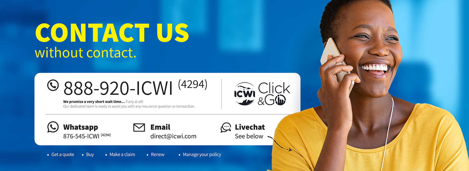 Contact Us | Insurance Company of The West Indies Jamaica